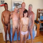 Four older men who get inside poor little Bettina